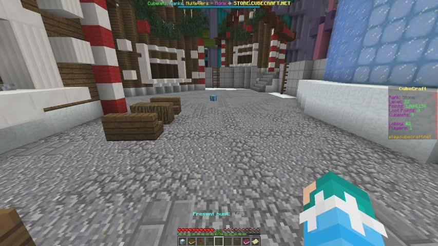 Cubecraft Christmas Present Hunt 2021 Christmas Update Part 1 Present Rush Lobby Loot Present Hunt Cubecraft Games