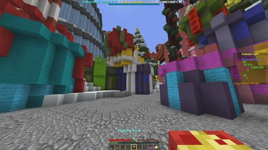 Cubecraft Christmas Present Hunt 2021 Christmas Update Part 1 Lobby Head Hunt Maps Cubelets And Loot Cubecraft Games